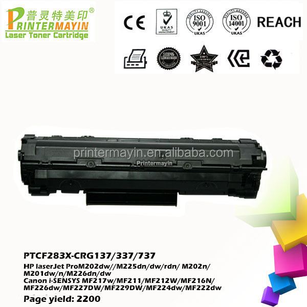 Laser Toner Cartridge 283x for HP laserJet Pro M202dw / M225dn (PTCF283X)