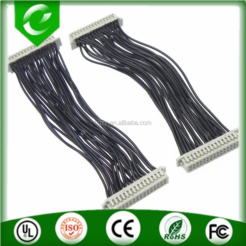 Both end with DF13-30DS-1.25c connector black wire lvds cable assembly