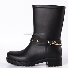 Fashion Mental Hook Rainboots,Custom,ECO-PVC,Rubber,Combat boat