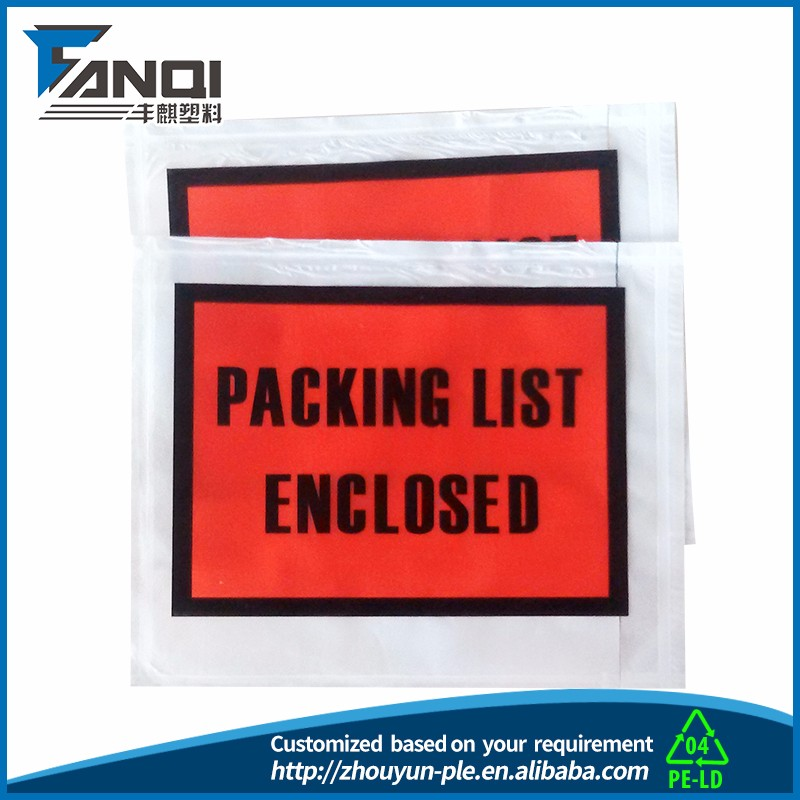 OEM business packing list envelope manufacture manufacturer making with machine in china