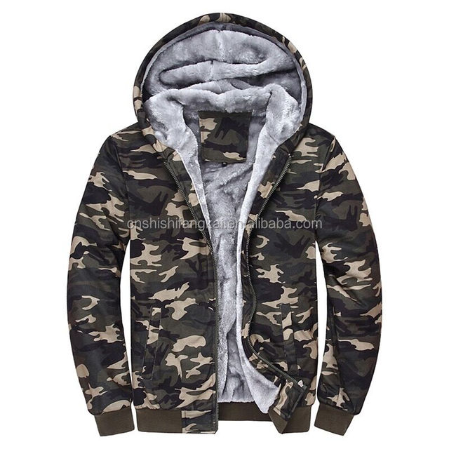 2016 Brand Clothing Camouflage Hoodies Tracksuits Velvet Fleece Thick Camo Mens Hoodies and Sweatshirts stock camo hoodies