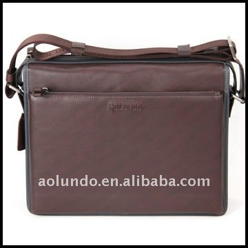 Aolundo brown vintage mens leather messenger bag