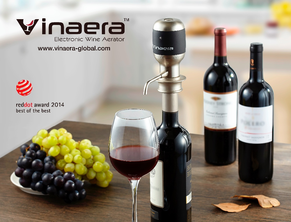 Vinaera 2016 new products bar accessories electric wine aerator pourer