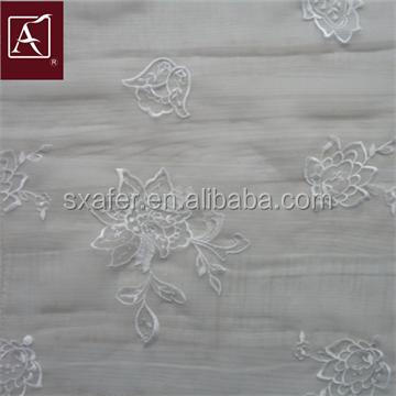 Exquisite Embroidery Organdy Fabrics Design For Garment
