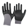 NMSAFETY black nitrile gloves with dots