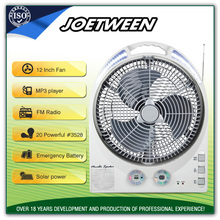 Outdoor exhaust small radiator AC/DC rechargeable electric fan motor solar battery