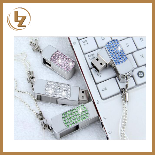 High Quality Promotional Hot Selling Jewelry Swivel USB Flash Drive 8GB