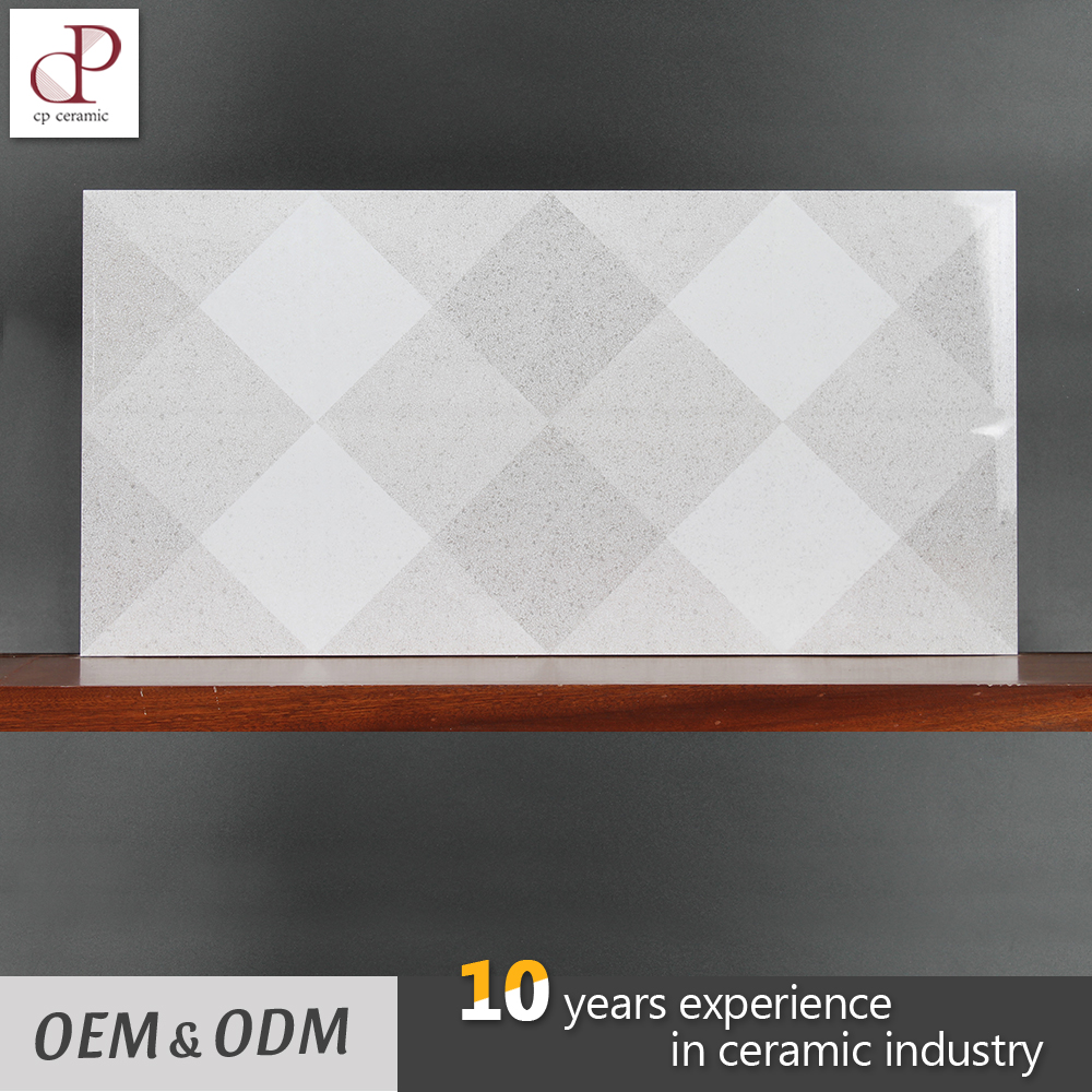 Europe Style Diamond Grid Pattern Ceramic Tiles 300X600 Living Rooms Interior Wall Tile Design