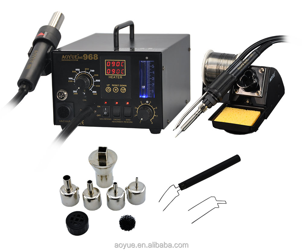hot air rework soldering station AOYUE 968 3 in 1 SMD