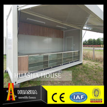 Pre-made container house with store shelf from China factory