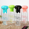 100% BPA free high borosilicate glass fruit infuser water bottle with insulated neoprene sleeve