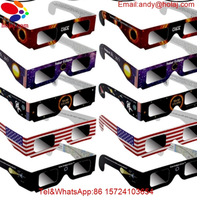Anti-UV Bard Film Paper Eclipse Glasses Paper Frame Total Solar Eclipse Observation Mirror Solar Eclipse Glasses