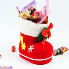 Mini Cute Santa christmas candy boots for promotion new products for 2015