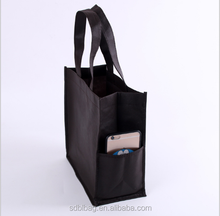Custom Promotional Color Printed Garment Cheap Shopping Non Woven Bag With Pockets