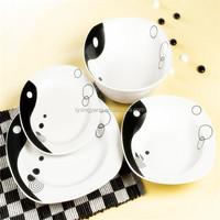 20pcs square dinner set/square porcelain and ceramic dinner set/vajilla