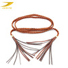 macrame braided leather rope belts for women