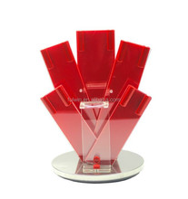 Fashion acrylic knife block in red color