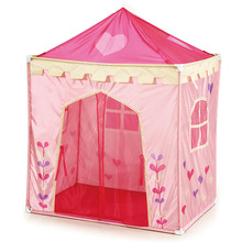 Pink folding princess house shape play tent