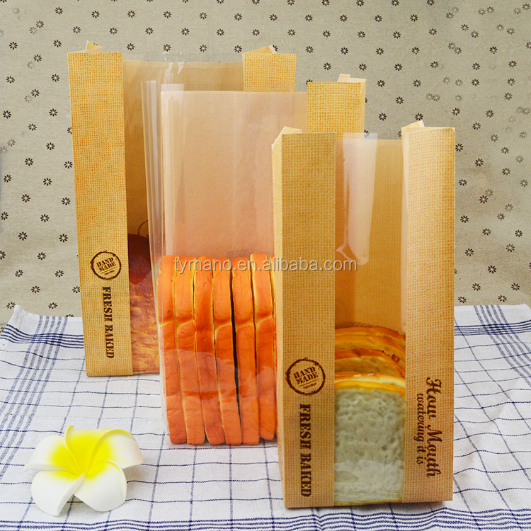 NEW product kraft paper toast bag/bread bag packaging with window