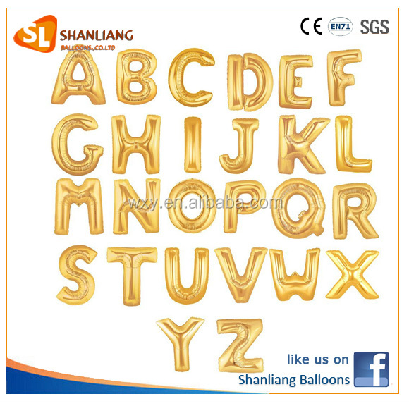 A-Z 40 Inch Gold Letter Foil balloon,for Party/Wedding Decoration balloons