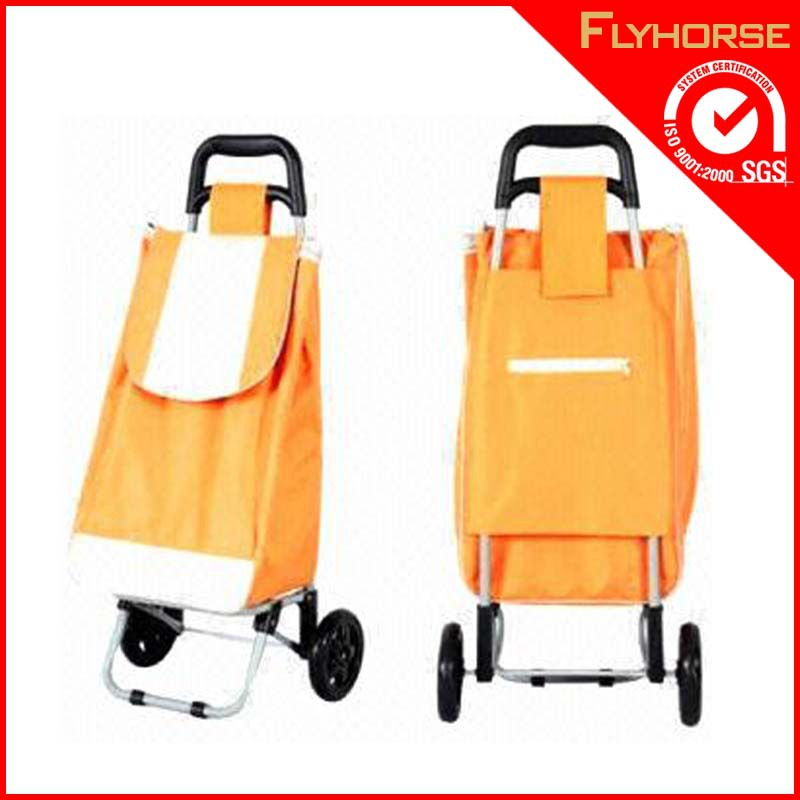 Alibaba reusable folding shopping plastic trolley bag with wheels