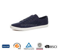 uk old navvy cheap sell online blue lace up rubber white sole canvas upper casual canvas sneakers