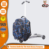 china online shopping three wheels scooter school backpack for childrens and kids