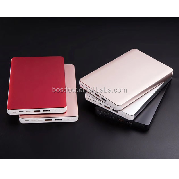 High Capacity Metal Slim 20000mah Table Power Bank With Type-<strong>c</strong> For Cell Phone