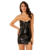 The New Fashion Design Women Sexy Club Bodycon Latex Dress