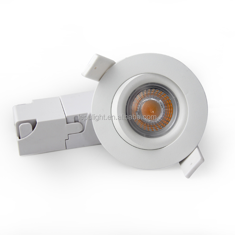 Gyro 360deg tilt 7W cob led downlight 0-100% dimmable with 68mm cut hole CE&RoHS certificeted IP44