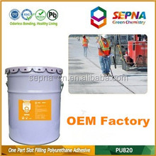 Adhesive and Sealant polyurethane one component PU820 for construction road