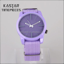 Fashion quartz cheap nylon watch