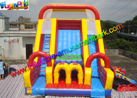Amazing Giant Three Lane Commercial Inflatable Sport Slide Water - Proof