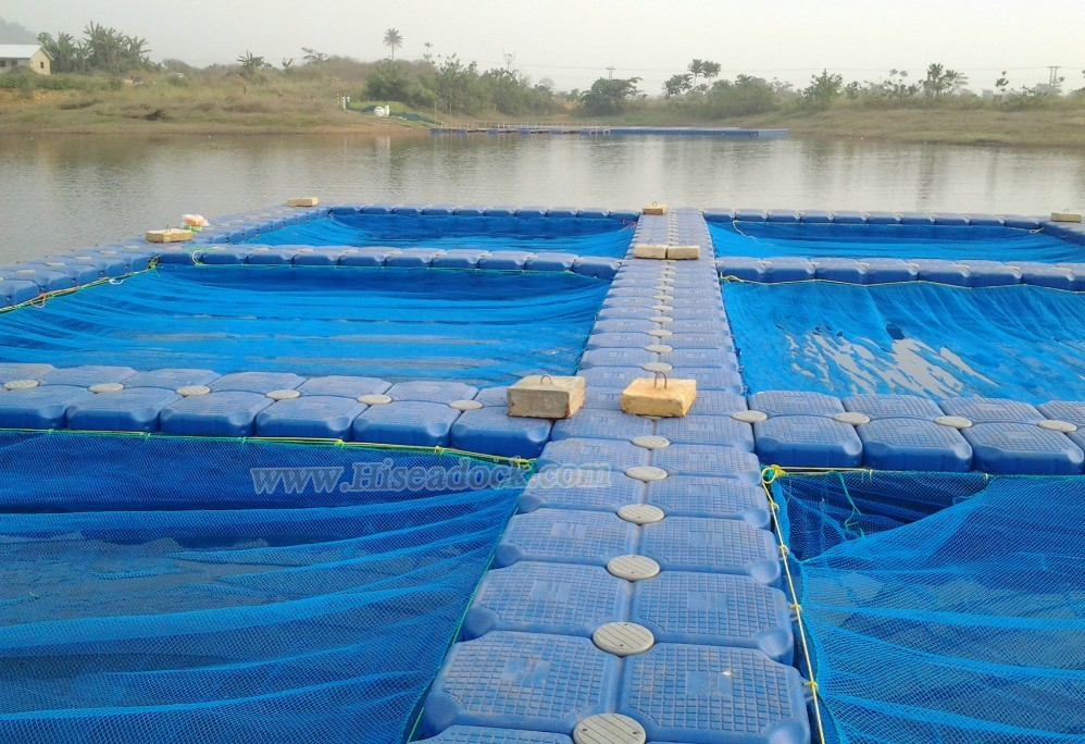 HDPE pontoon cubes floating fish cages