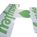 Wholesale colored vinyl permanent adhesive letter decals