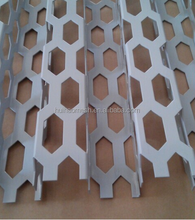 Aluminium hexagonal Perforated Sheet Curtain Wall mesh
