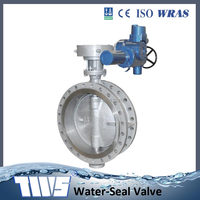 D943H Flange connection Exhaust Stainless Steel Butterfly Valve