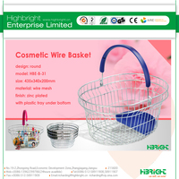 chrome wire shopping wire basket for supermarket goods