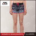 Illusion Printed women's boardshorts beach shorts