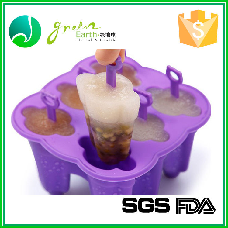 Colorful candy color Food Grade 6 Holes Plastic Stand for Silicone Ice Pop Popsicle Mold Maker