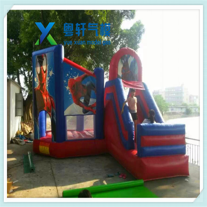 New design spiderman inflatable bounce house/spiderman bouncer slide/inflatable spiderman bounce slide