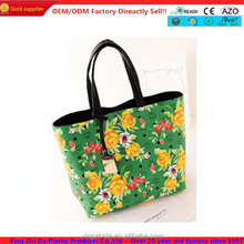 colorful young lady full color printing tote bag wholesale 2014