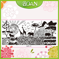BQAN Factory Custom Nail Stencil Animal Nail Art Stamping Plates for Nail