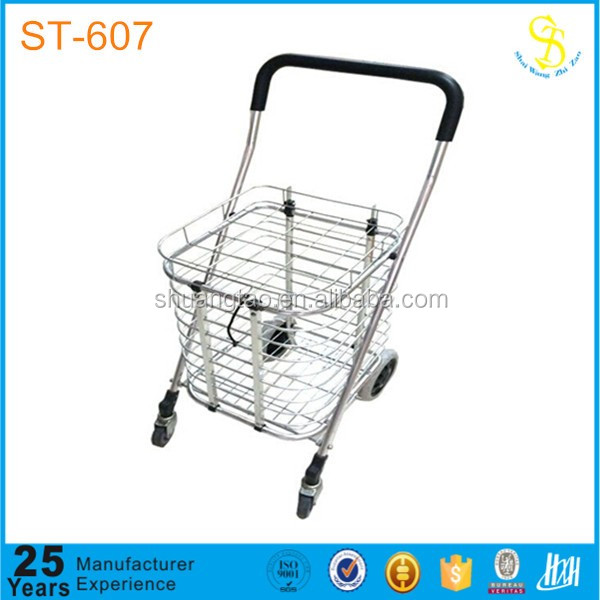 Portable luggage rolling shopping tote, heavy duty shopping cart, shopping trolley