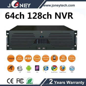 16 HDD ONVIF P2P Cloud Motion detection 64CH NVR