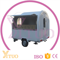 Best selling YT-FR250 with fried ice cream machine mobile food cart/food trailer/food van/kiosk