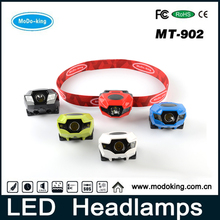 Shenzhen head lamp manufacturer, Lightweight led guide head light white and red led hiking head lamp