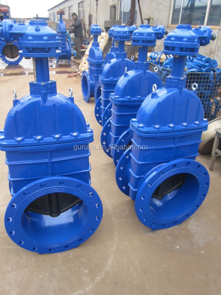 Resilient Seated Big Size Dn1000 Flanged Gate Valve