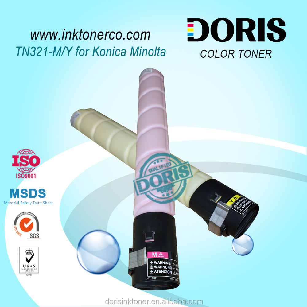 color copier toner TN321 Magenta Yellow for Konica Minolta Bizhub C224 C284 C364 refill toner powder