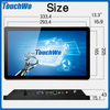 13.3inch industrial touch mini pc/computer with touch screen monitor 10 point touch